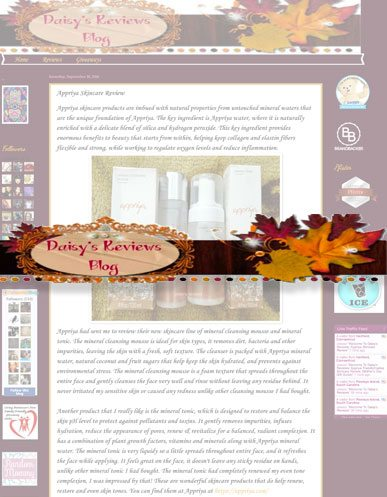 Appriya Skincare Daisy's Reviews Blog