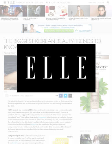 Appriya is featured in Elle for Korean beauty trends!