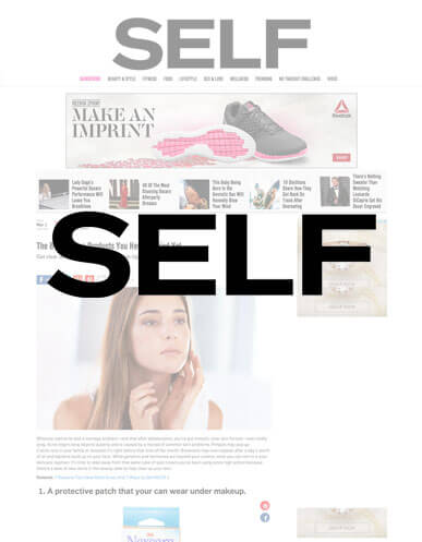 Appriya is featured in Self for new acne products of 2016!