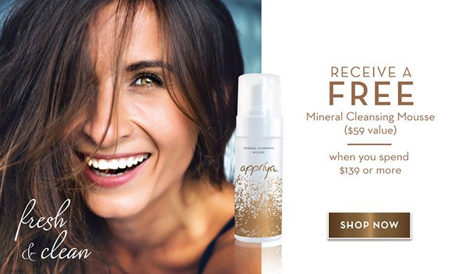 Appriya PopUp Promo Sept 2016 Free Mineral Cleansing Mousse